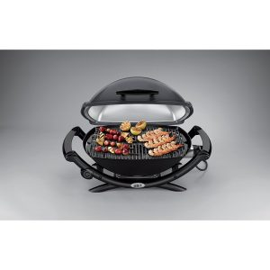 Weber Q 2400 Electric Grill - cooking healthy kebabs